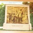 Vintage Lincoln Douglas Memorial Washington Park Quincy Illinois Postcard