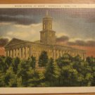 Vintage State Capitol At Night Nashville Tennessee Postcard