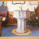 Vintage St Peters Church St Georges Bermuda The Font Postcard