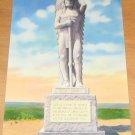 Vintage Famous Sioux Indian Statue Lookout Hill Postcard