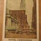 Vintage Hotel Commodore New York Postcard