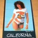 California Squeeze Me Model Girl Postcard