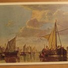 Vintage The Maas At Dordrecht By Cuyp Painting Postcard