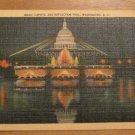 Vintage Capitol And Reflection Pool Washington DC Postcard
