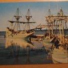 Vintage Jamestown Virginia Three Ships Postcard