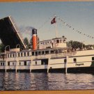Vintage Segwun Passing Thru Locks Port Carling Ontario Postcard