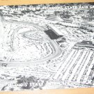 Vintage Aerial View Illinois State Fair Grounds Postcard