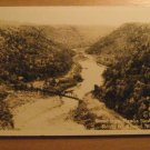 Vintage Scene From Hawks Nest Rock Ansted West Virginia Postcard