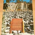 Vintage Devils Postpile National Monument Postcard