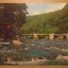 Vintage Tarr Steps Exmoor Devon Postcard