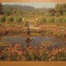 Vintage Italian Garden Pool Butchart Gardens Victoria B. C. Canada Postcard