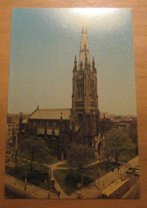 Vintage St James Cathedral Toronto Canada Postcard