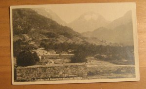 Vintage Friedhof Mit Segantinis Grab Bel Molaja Postcard
