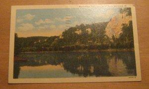 Vintage Mississippi Palisades State Park Savanna Illinois Postcard