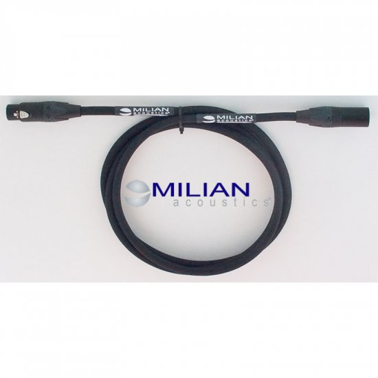 Milian Acoustics 10 Ft. 3 Pin XLR OFC Balanced Microphone Line In Interconnect Cable