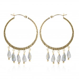 GOLDFILLED LABRODITE HOOPS