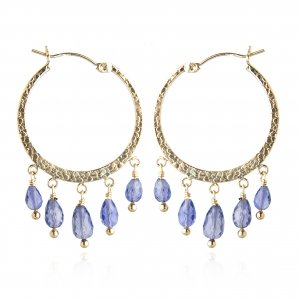 GOLDFILLED IOLITE HOOPS