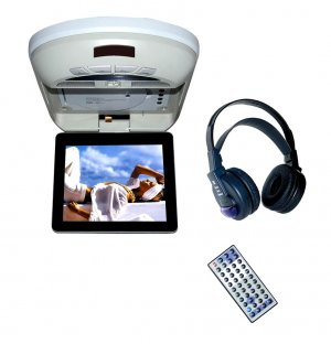 8 inch  flip down monitor with car DVD