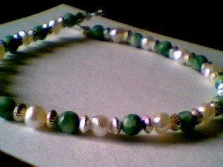 Genuine Jadeite & Sterling Silver Bracelet