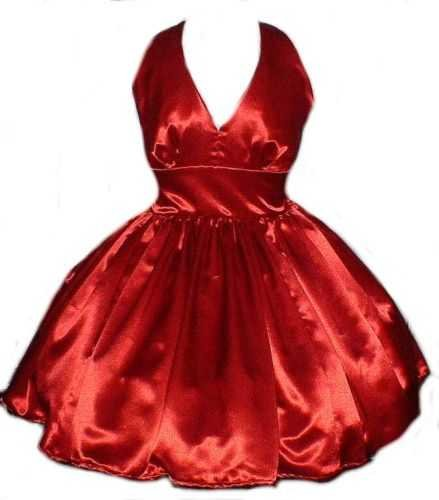 Satin Retro Rockabilly Swing Dress