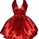 Satin Retro Rockabilly Swing Dress
