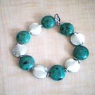 Green and Silver Beaded Fashion Bracelet