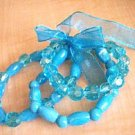 Acrylic Light Blue Fashion Bracelet Set