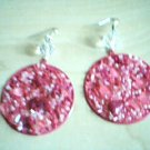 Pink Bead Fashion Earrings