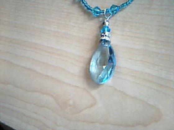 Blue Drop Fashion Necklace