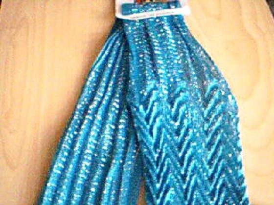 Blue Zig Zag Fashion Scarf