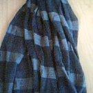 Grey Striped Fashion Scarf