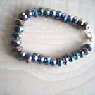 Iridescent Faceted Glass Bead Bracelet