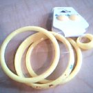 Child's Yellow Bracelet, Earring, Ring Set