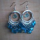 Blue and Silver Chandelier Earrings