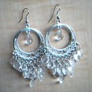 Clear and Silver Chandelier Earrings