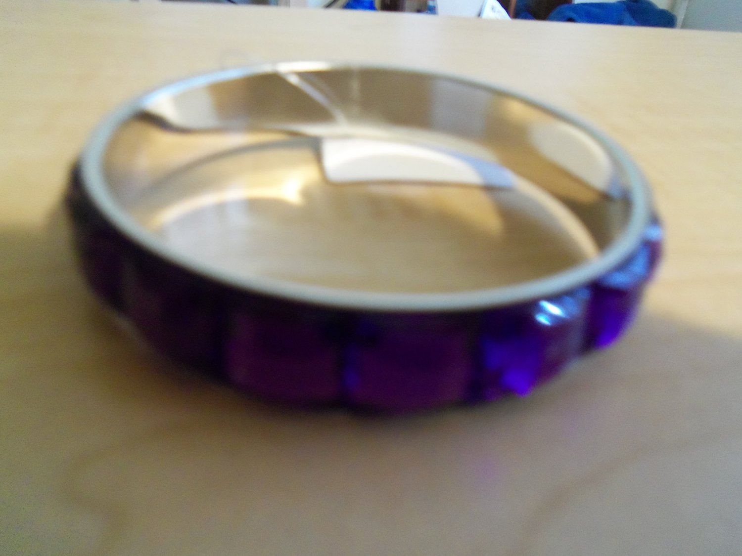 Purple Jeweled Bracelet