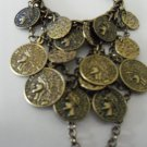 Gold Coin Covered Chain Ring Bracelet Combo