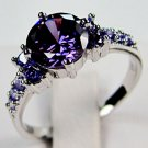 Amethyst White Gold Filled Ring - Size 8