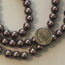 Brown Glass 8mm Pearls - 30&quot;