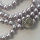 Grey Glass 8MM Pearls - 30&quot; Strand