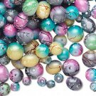 Painted Splattered Glass Beads