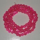 Pink Crackle Beads 8mm - 30 Strand