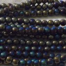 "Black Glass Beads with AB Coating 6mm - 16"" Strand"