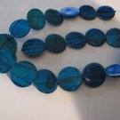 Blue Shell 19mm Beads - 1 Strand