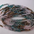 4mm Facated Sea Green Round Beads - 15""