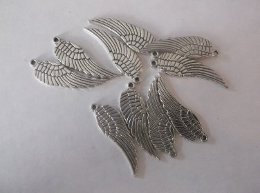 Silver Angel Wings Charms
