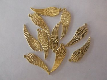 Gold Angel Wings Charms