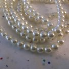 Cream Glass Pearls, 6mm - 2 Strands