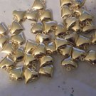 Gold Hearts - 20 Charms
