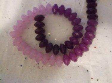 Shades of Purple Acrylic Rondelles